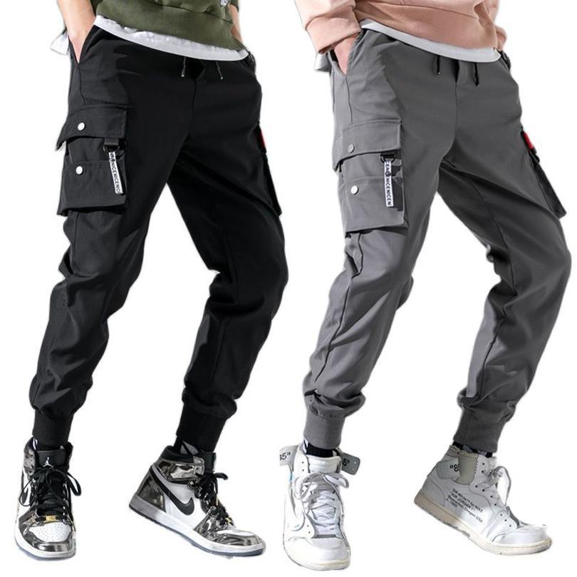 Pantalones livianos verano delgado pantalones deportivos hombres tácticos niños jogging carga masculino joggers casual primavera hombres ropa