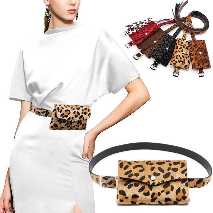 Courroies Femmes Taille Pack Femelle Ceinture Sac Fashion Léopard Voyage Petit téléphone Pochette Sacs De Marque Design Filles Fanny