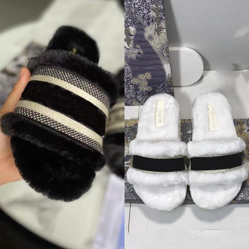 Klassiker Paris Fahsion Frauen Baumwolle Hausschuhe Winter Schwarz Braun Weiß Rosa Kaffee Slipper