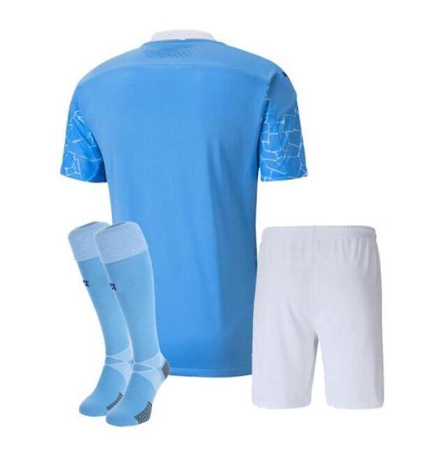 Camisa de futebol masculina e infantil 2020/21 de manchester city 2020/2021 STERLING city kit de camisa de futebol MAHREZ DE BRUYNE G.JESUS