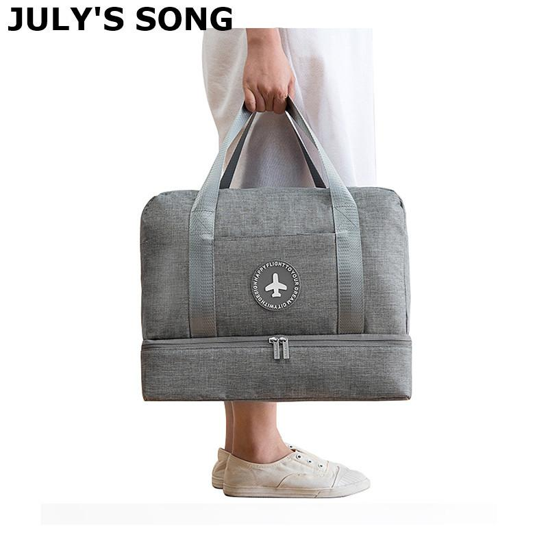 Temmuz Şarkı Seyahat Çantası Su Geçirmez Büyük Kapasiteli Çok Fonksiyonlu Kuru Islak Ayrım Depolama Çanta Çanta Seyahat Duffle Çanta 210329