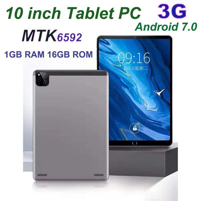 2021 Yüksek Kalite Dört Çekirdekli 10 Inç MTK6592 Çift SIM 3G Tablet PC Telefon IPS Kapasitif Dokunmatik Ekran Android 5.1 1 GB 16 GB MQ10