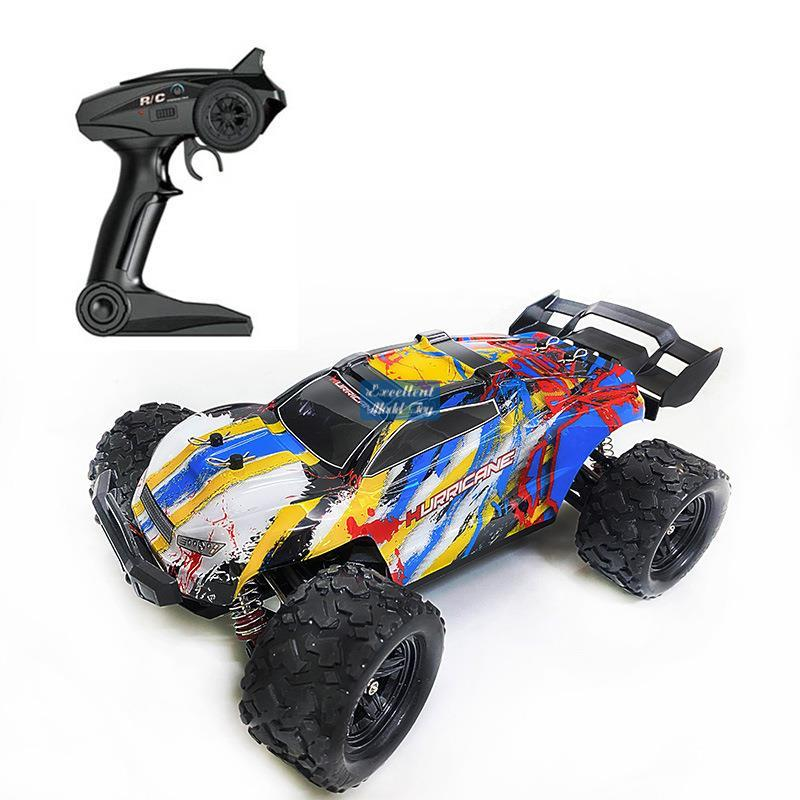 EMT ORT3 4WD Monster Race Off-road Truck, RC Car Toy, High-Speed-36 KM/H, Differential Mechanism, Cool Drift, LED Lights, Kid Christmas Boy Gift