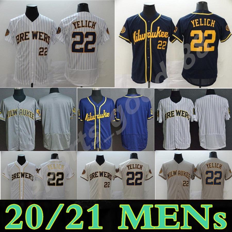 Пользовательские 2021 Milwaukee Jersey 22 Christian Yelich 8 Ryan Braun 24 Isus Aguil 39 Corbin Burnes 6 Lorenzo Cain Brewer Бейсбол