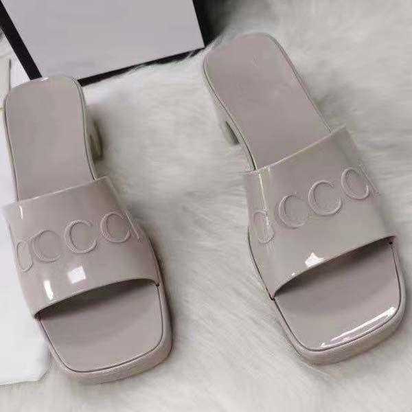 Donne moda gelatina pantofole piattaforma sandali tacchi alti tacchi alti grosso flip flip flops colori caramelle scarpe da festa taglia 35-41 con scatola
