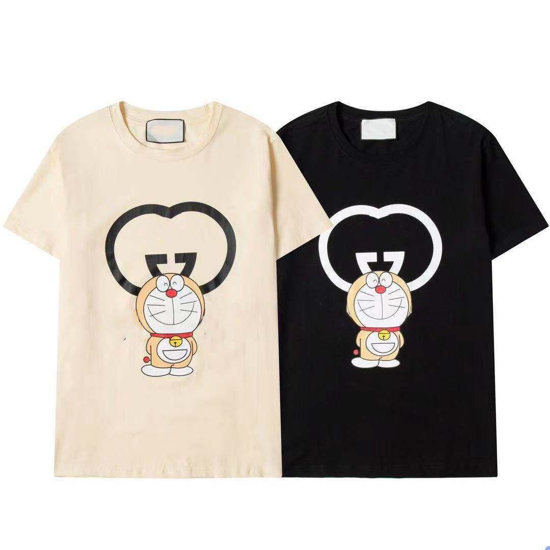 Мужская футболка Летняя мода Маленькие круглые шеи Дамы с коротким рукавом дышащая быстрая сушка хлопчатобумажная напечатана черный верхний размер S-XXL