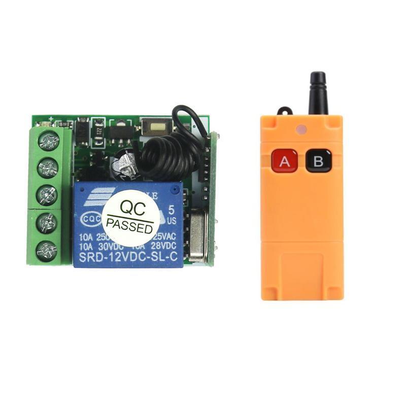 Smart Home Control 12V 1 Kanal 1500m Wireless Remote Switch DC High Range Relay für Einzelauto / ohne COM NC-Kontakt