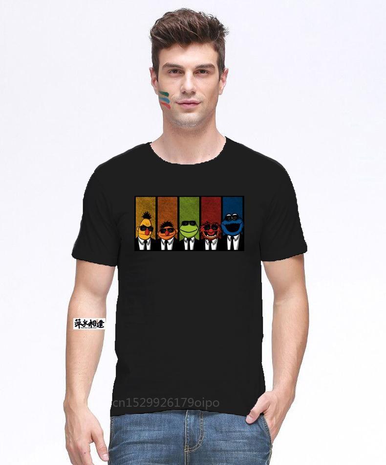 T-shirt dos homens T-shirt do monstro do cookie dos muppets do reservatório para os homens mais camiseta do grupo personalizado
