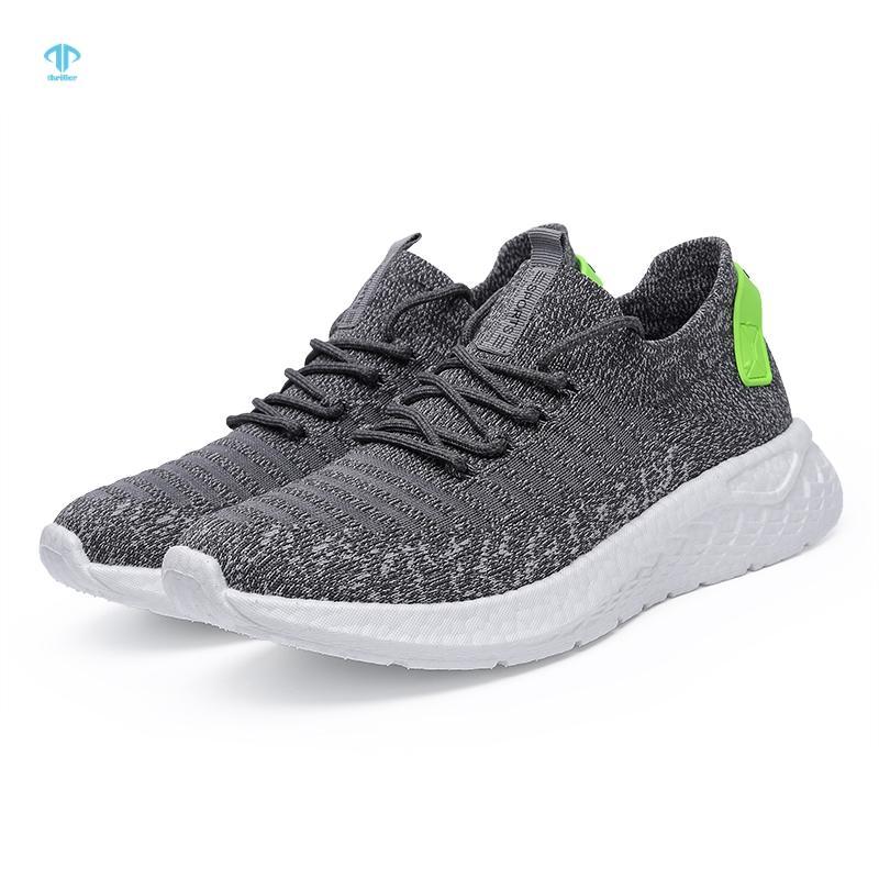 Thriller Hommes Running Shoes Lightweight Casual Sport Tissu Hard portant une halte à lacets solide
