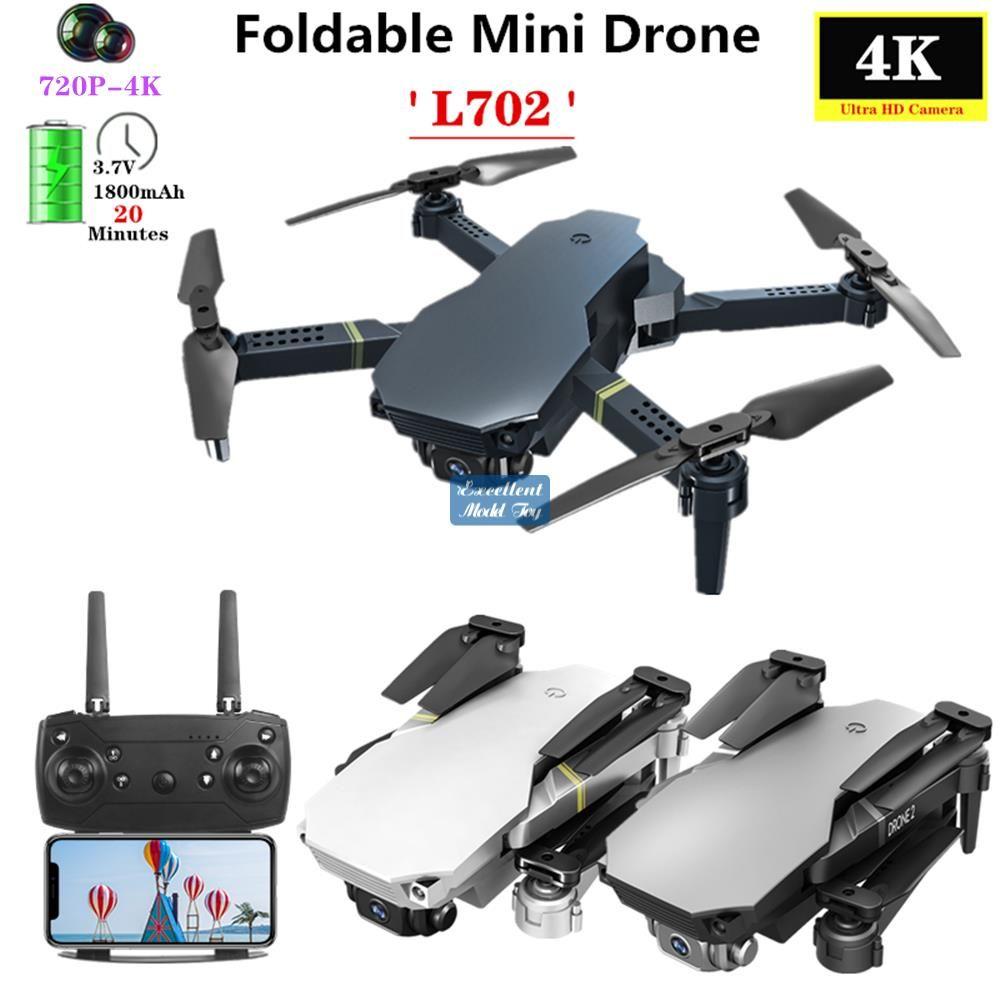 L702 4K Dual Camera FPV Mini Anfänger Drone Kid Spielzeug, Simulatoren, Track-Flug, einstellbare Geschwindigkeit, Höhenlage, Geste Nehmen Sie ein Foto, 1800 MA-Batterie, verwenden Sie