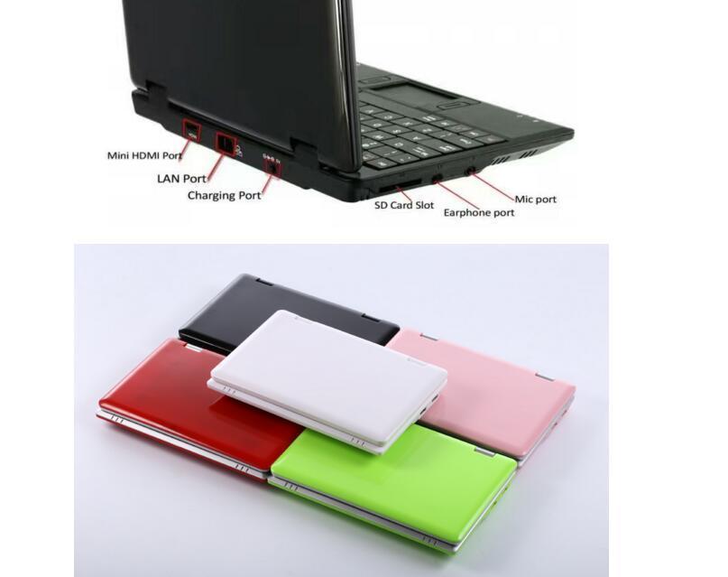 2 pcs Portable Pocket Mini Laptop Micro Computer Notebook PC 7 inch screen size 8gb hard drive fast internet access