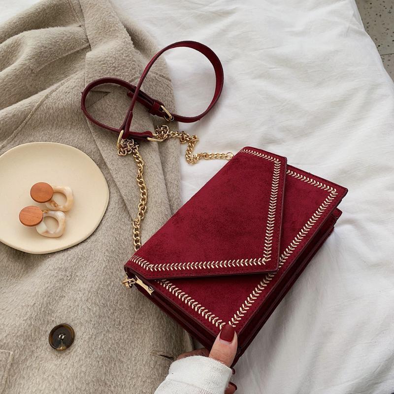Cross Body 2021 Luxury Velvet Crossbody Bag For Women Leather Messenger Bags A Main Handbags Female Shoulder