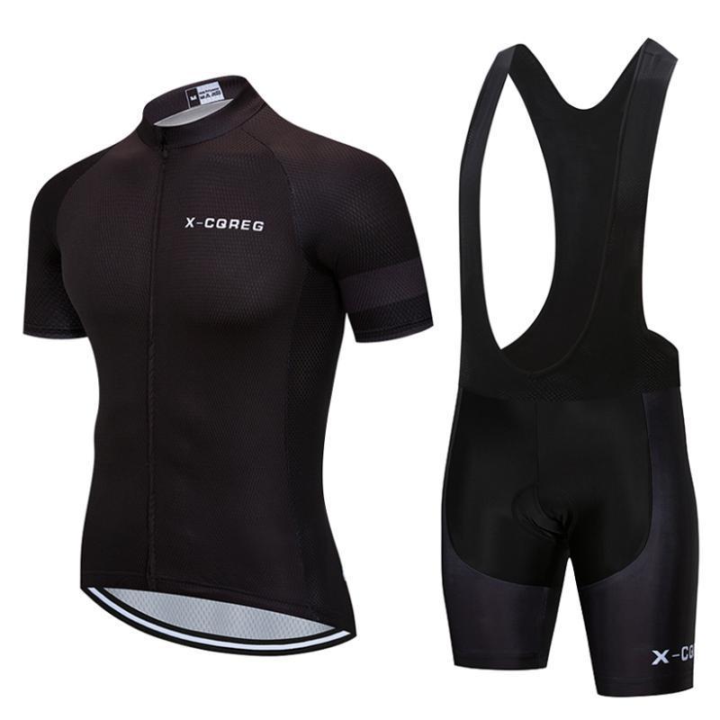 Гоночные наборы 2021 X-CQreg Велоспорт Одежда Мужская Летняя MTB Дорожный Велосипед Униформа с коротким рукавом Велосипедная одежда Костюм Джерси Набор