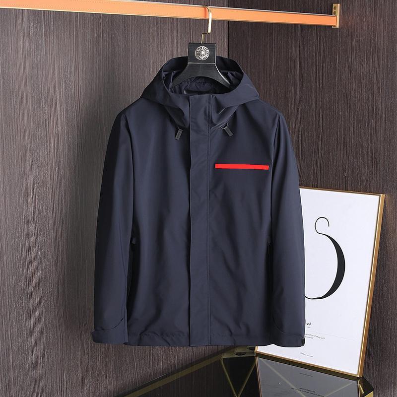 Männer Jacken Frühlings- und Herbstjacke Marke Mantel Outdoor Sun Proof Windjacke Sonnencreme Kleidung wasserdicht mit Kapuze Beiläufige plus Größe