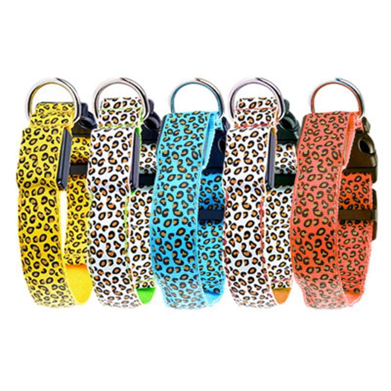 Colares Colares Coleiras LED Collar Anti-Perdido Acidente de Carro para Cães Filhotes Leva Segurança Noite Piscando Glow Pet Products