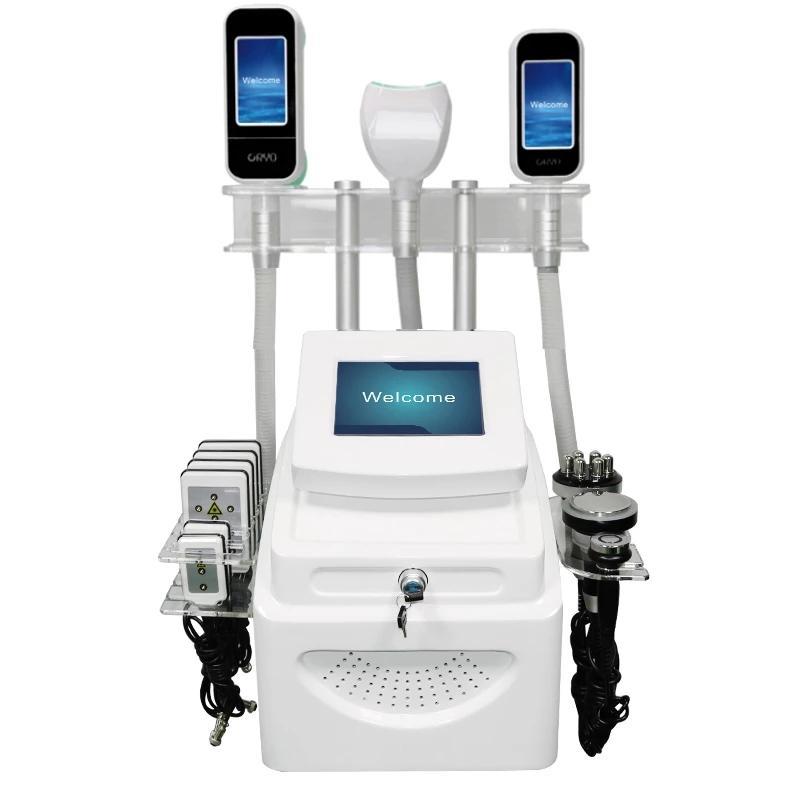 5 en 1 Cryolipolysis Fig Fey Freezing Máquina adelgazante Vacuum Reducción Adiposa Crioterapia Cryo Equipo de pérdida de peso LLLT LIPO LÁSER LASER