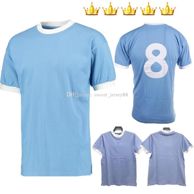 Manchester Retro Classic Soccer Jerseys 1972 1973 1998 1999 Ciudad Wembley 72 73 98 99 Clough Kinkladze Tevez Kun Agüero Dzeko Kompany Camisetas de fútbol de la vendimia Kits
