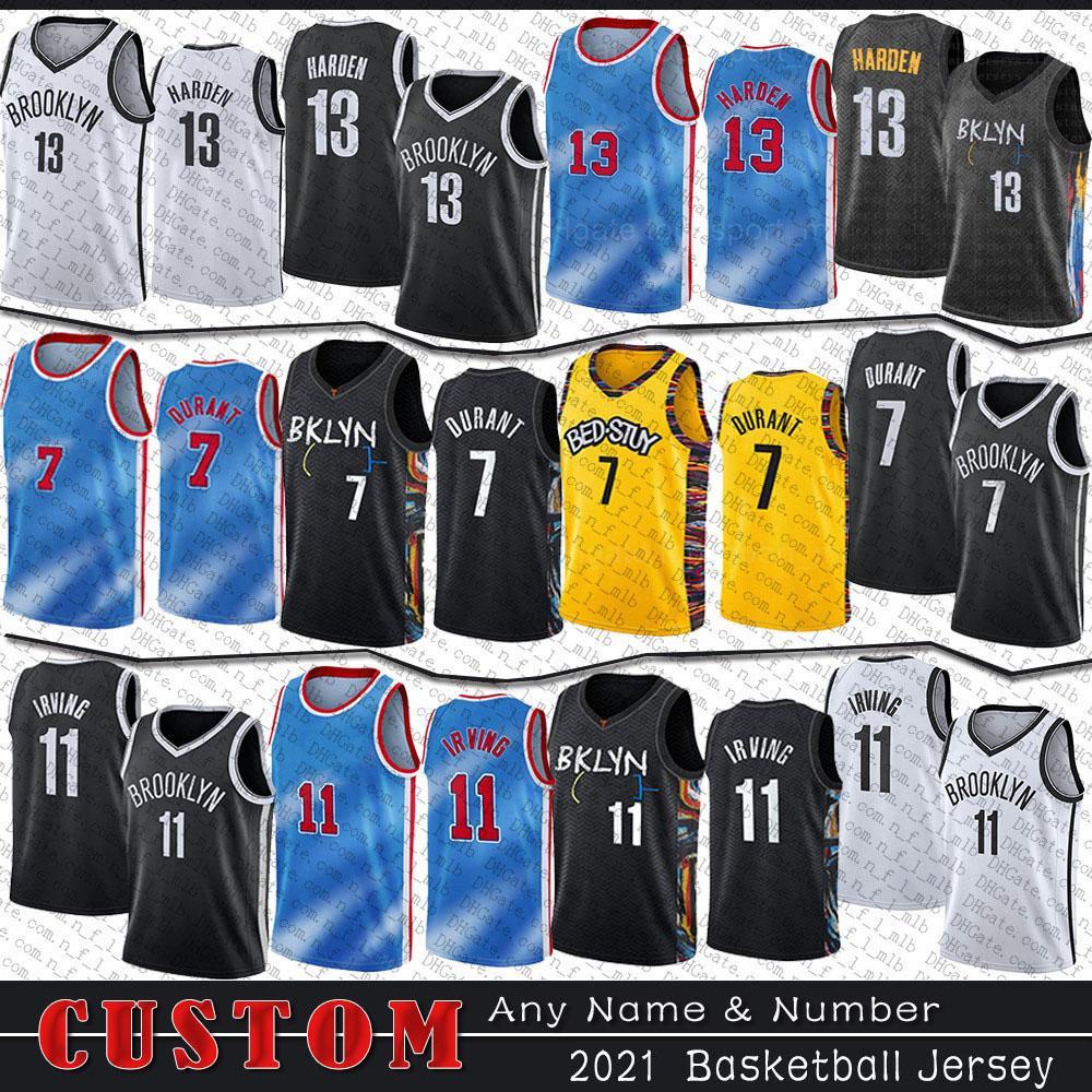 13 Harden Custom Basketball Jersey 7 Kyrie 11 Kevin 72 Ирвинг Biggie Durant Mens Jerseys Blake 2 Griffin Bruce 1 Brown Chris 4 Chiozza Joe 12 Alize Harris Johnson