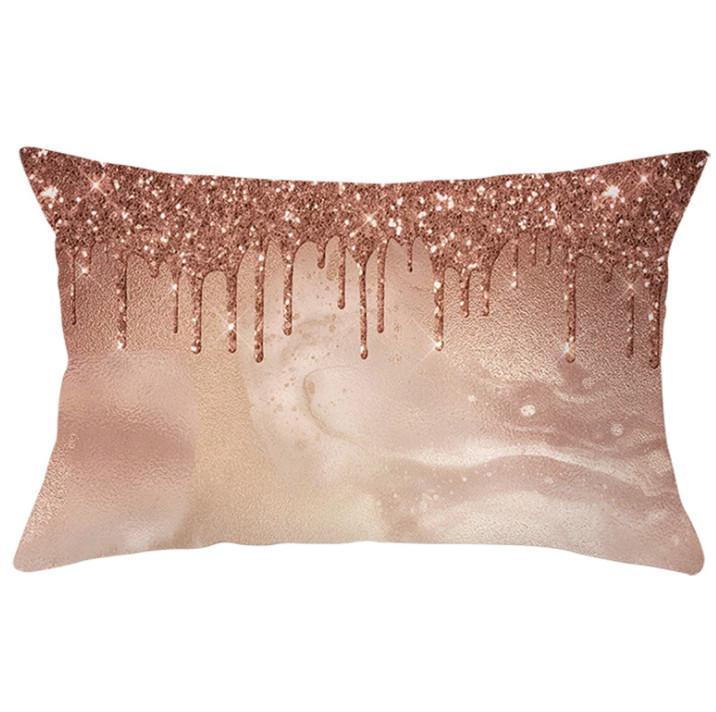 Le dernier boîtier de taie d'oreiller de 30x50cm, une sélection de style de modèle d'impression géométrique géométrique rose rose, des coussins de meubles de maison texturés, support de logo personnalisé