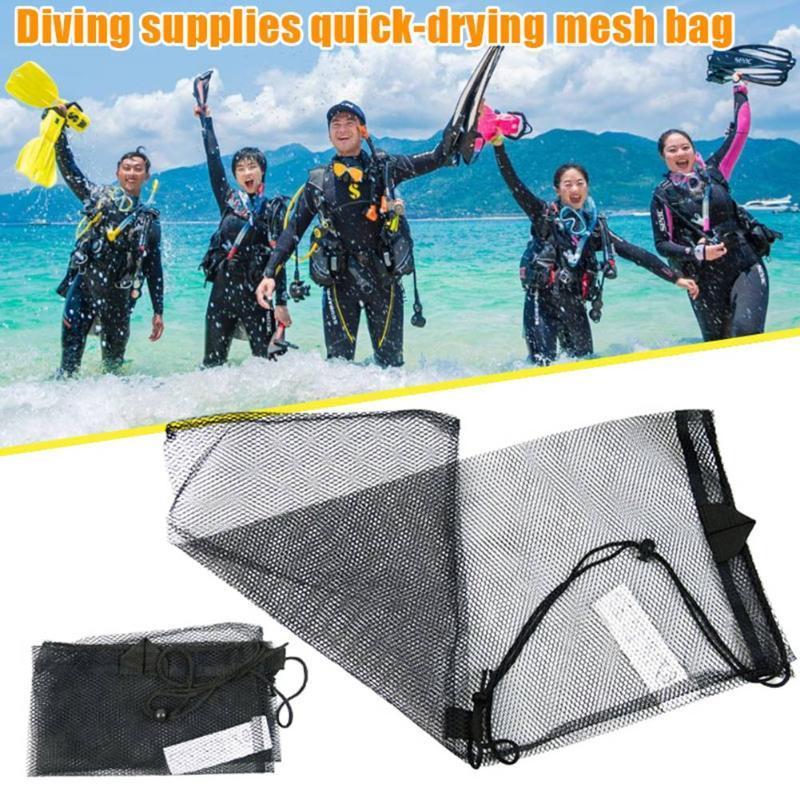 Accessoires de piscine Sac de cordon de cordon de baignage à sec sur la baie d'eau Sports d'eau Snorkeling masque Flickers Sacs de filet Eig88