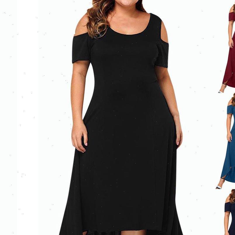 Icclek frauen dress s 7XL plus größe kleider abend party sommer maxi frauen damen kurze hülse floral gedruckt elegant
