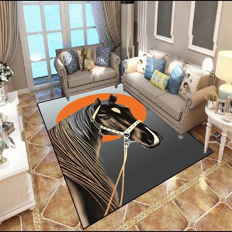 European style Anti-skid Premium Jacquard carpet for living room Red/Black/Brown/Cream mat floor 638