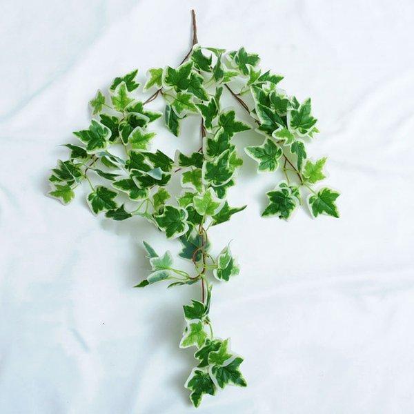 الحرير الأخضر الاصطناعي شنقا ورقة حديقة ديكورات 8 أنماط غارلاند النباتات كرمة القيقب العنب أوراق diy zze6002