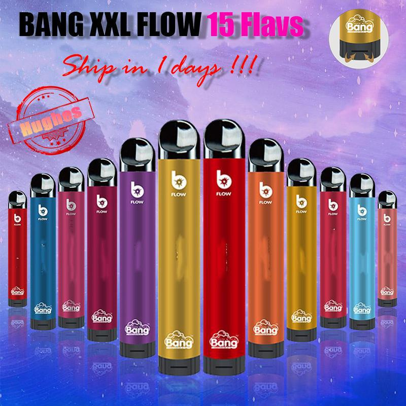 [10PCS] 100% Original Bang XXL Flow 2000 PUFFS Disposable Kit E Cigarettes Device 850mAh Battery 6ml Pods Vape Pen Pre-filled Vapors Pro MAX