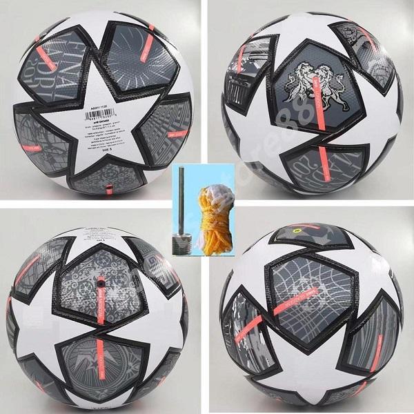 2021 Champion Europeo Balón de fútbol 20 21 Final Kyiv PU Tamaño 5 Bolas Gránulos Fútbol resistente a los deslizamientos 05