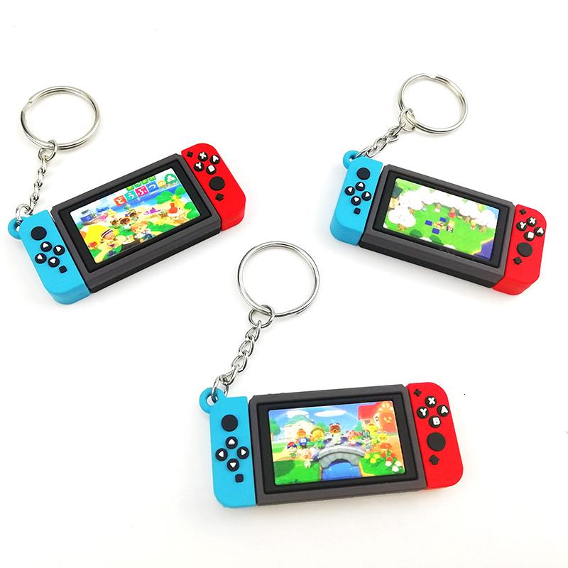 Keychain 6styles Jogo Animal Crossing Keychain Chaveiro Nintendo Chaveiro Chaveiro Charm Saco Pingente Moda Macio Borracha PVC Key Cha