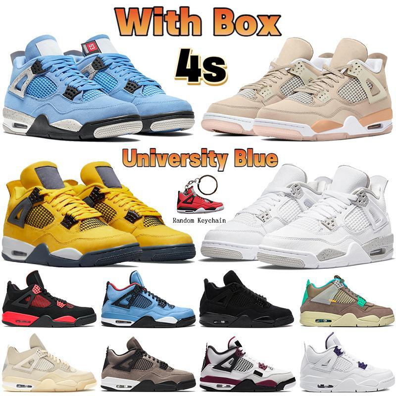 جديد أعلى 1 ثانية 4 ثانية jumpman رجل كرة السلة الأحذية 4 نجم البحر الأبيض × الشراع ولدت 1 القمح منتصف شيكاغو ميلان الرجال النساء أحذية رياضية