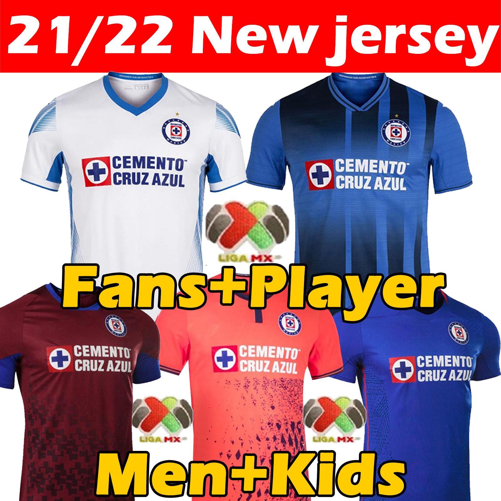 21/22 Liga MX Cruz Azul Campeones Soccer Jersey Fanter Player Версия Специальное MOMERATION EDITION FUTBOL CLUB CAMISETA DE FúTBOL 2021 2022 Мужчины детская футболка