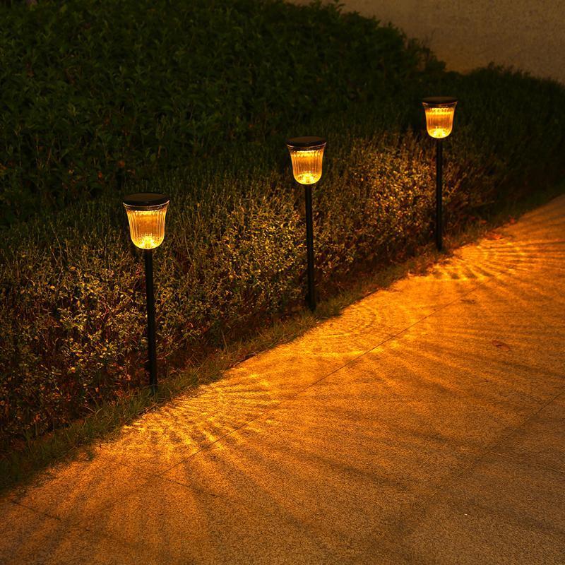 방수 LED 태양 정원 빛 안뜰 야외 홈 장식 조명 잔디밭 램프 램프
