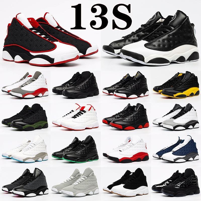 Air Jordan 13 13s Retro shoes Mans Basketbol Ayakkabı Kırmızı Flint Siyah Hyper Kraliyet Kedi Erkek Sneakers Denizyıldızı Chicago Oyunu Got Oturdu Şanslı Yeşil Jumpman Eğitmenleri