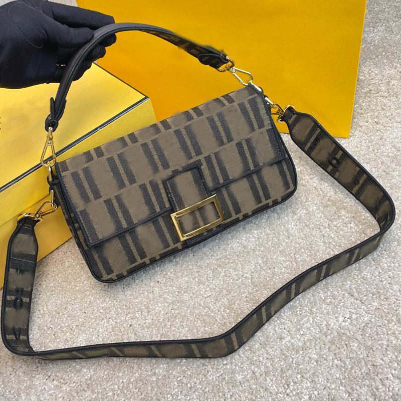 Vintage Baguette Bag Women Handbag Purse Crossbody Bags Fashion letter Canvas Handbags Golden Hasp Detchable Shoulder Strap Totes Two Size Top Quality