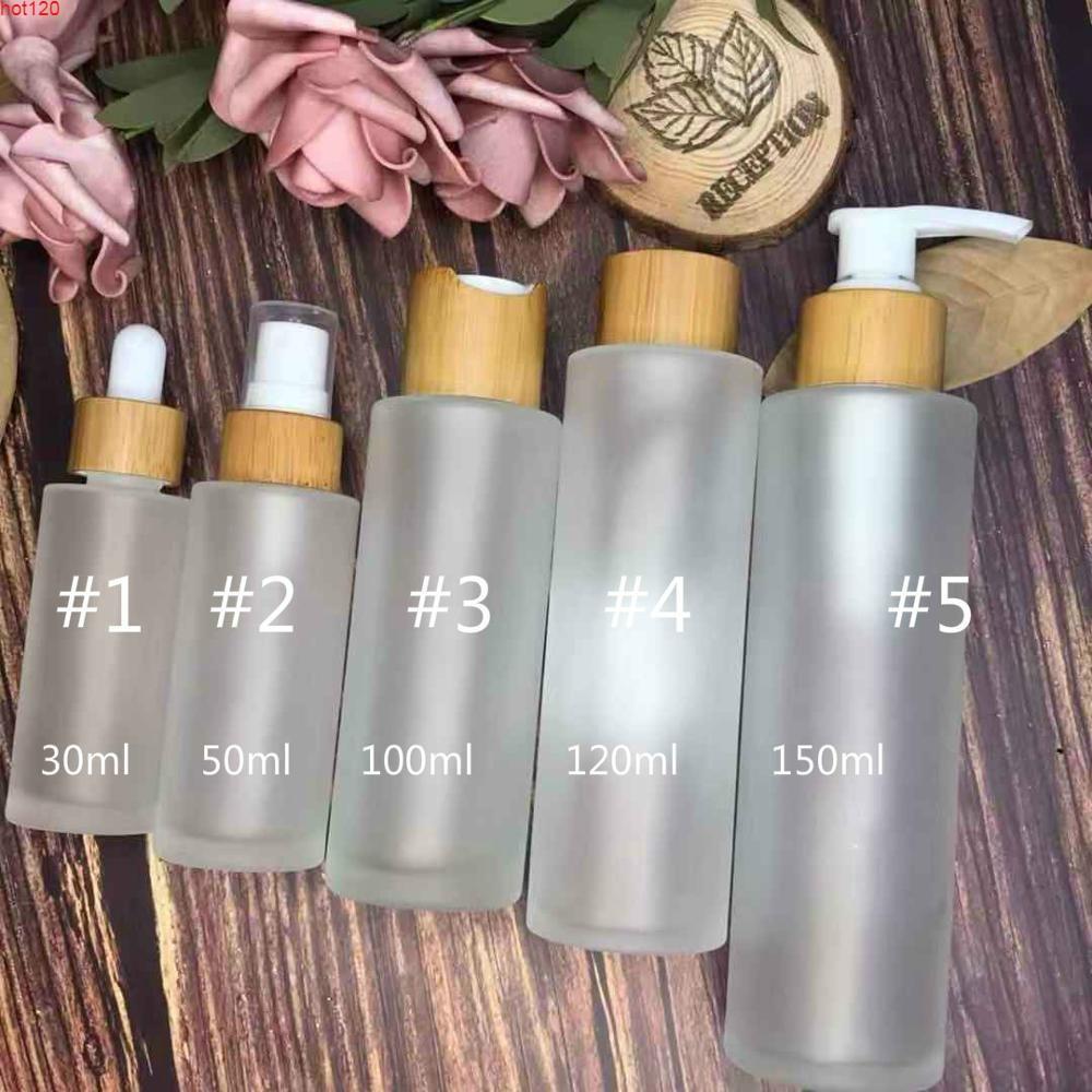 630 adet * 150 ml Buzlu Temizle Sprey Pompaları Bambu Losyon Şişe Tops 30ml 50ml 100ml 120ml 150ml Frost Cam Mist Sprey Bottlegoods