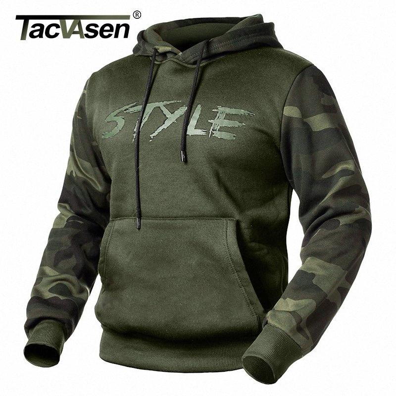 Vestes de camouflage Tacvasen Hommes Sweats à capuche Sweats-Sweats Casual Type Tactical Jacket Manteau Automne mince Camo Sweats à capuche Pullover M2B8 #