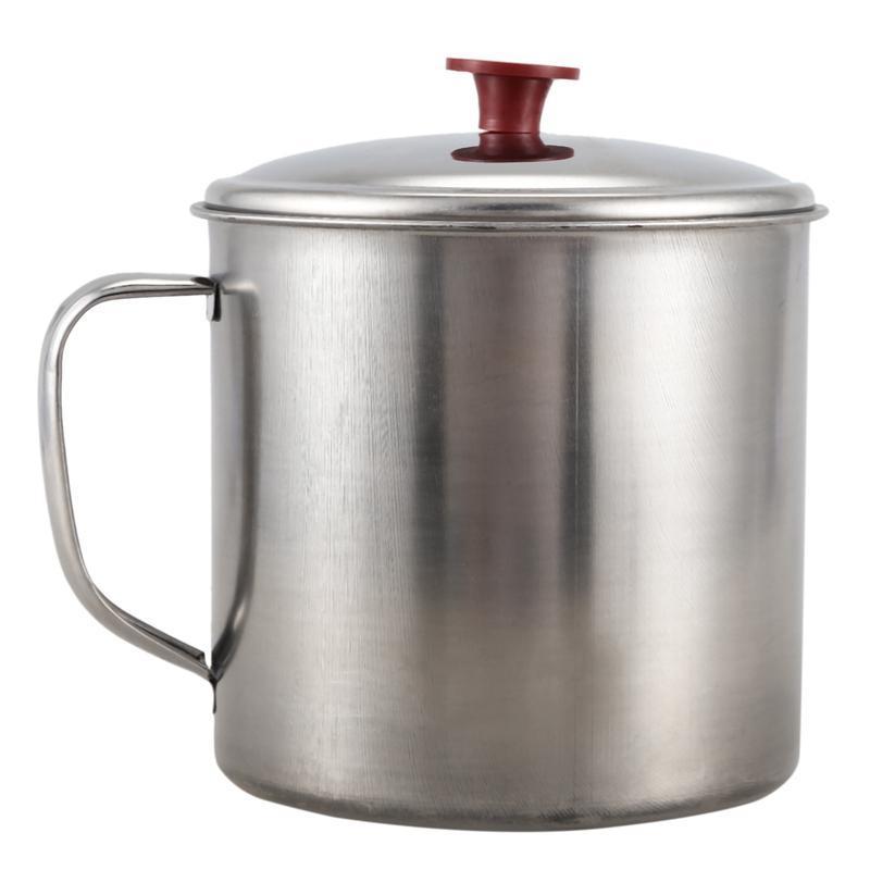 스테인레스 스틸 뚜껑 4 인치 디아 능력 워터 컵 음료 찻잔 머그잔