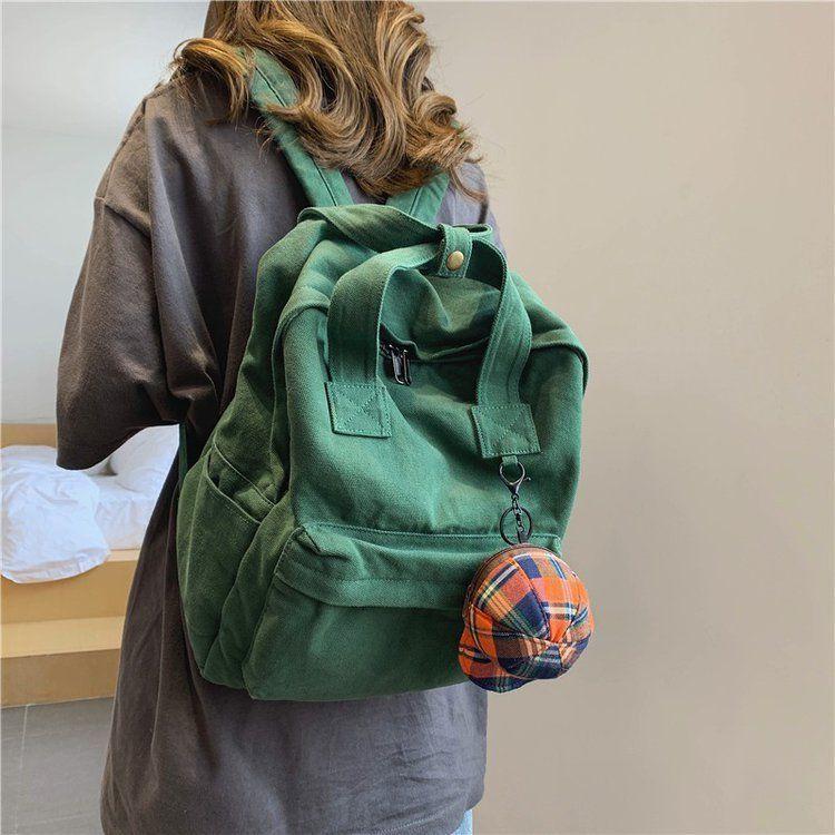 Рюкзак Корейский ретро стиль женщины мода твердого цвета школы для девочек-подростков дети путешествовать