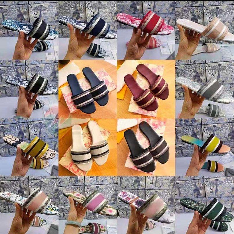 Sandálias de borracha de verão de alta qualidade Sandálias de borracha de corrediça de slide sclippers Sapatos internos tamanho EUR 35-41 com caixa