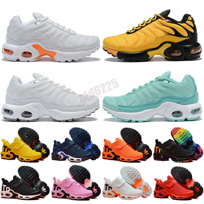 TN plus Kids shoes pink sea bleached coral pure triple black white red lemon lime bumblebee voltage purple men women sneakers