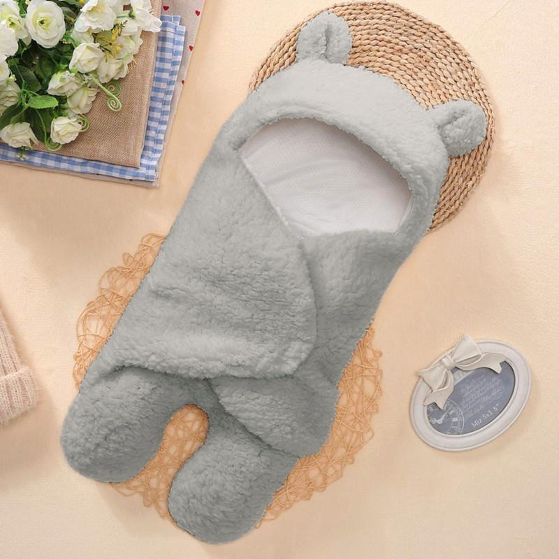 Newborn wrapped comfortable receiving blanket baby cute cotton receiving white sleeping blanket boy girl wrapped
