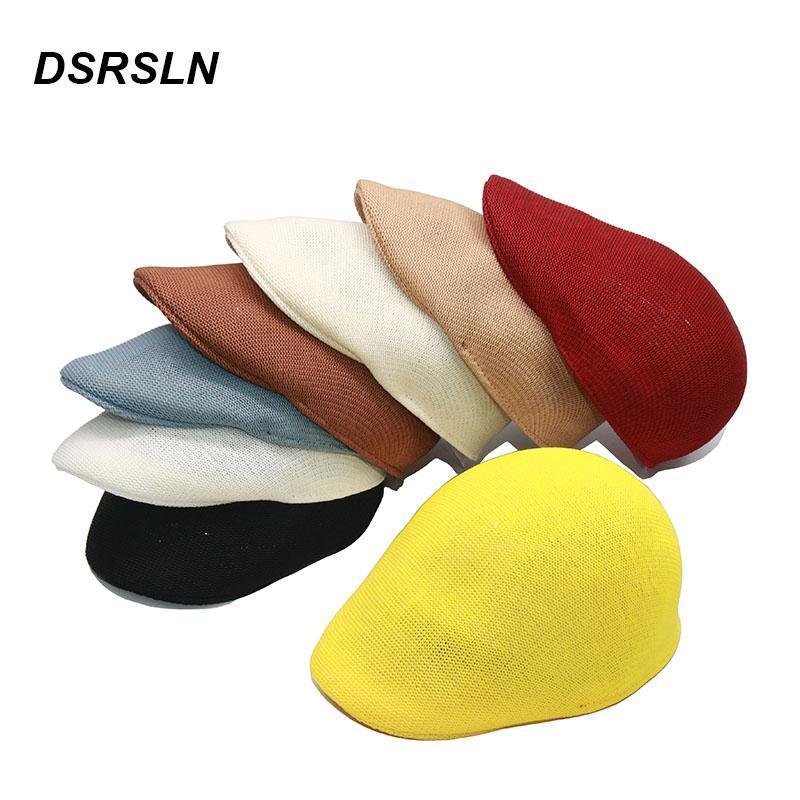 Moda Kadınlar Baker Şapka Siyah Sboy Cap Renkli Ördek Geleneksel Toptan Drop S1065 Visors
