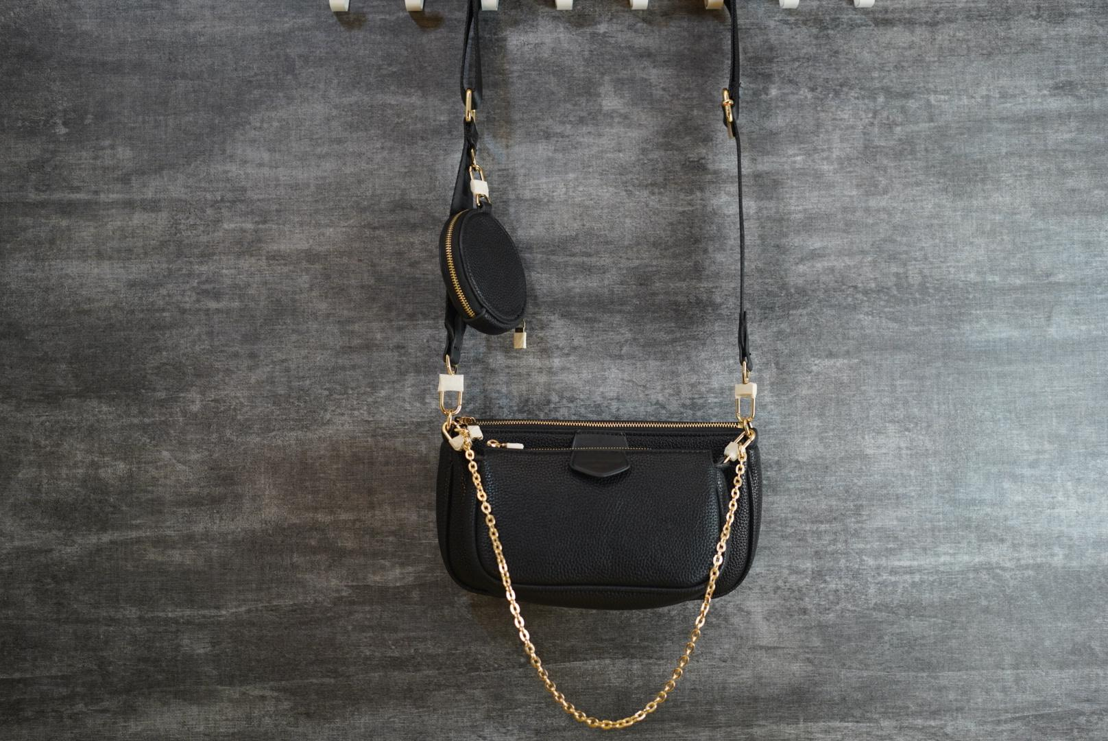 Bolsas de ombro bolsa bolsas mulheres bolsas mulheres crossbody bolsa de couro wallet de mochila com bom lether maquiagem de maquiagem taurillon preto carta em relevo