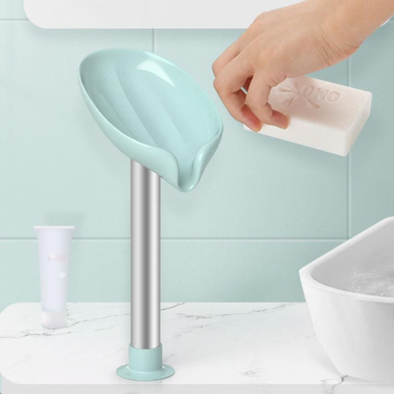 Seifenschalen 1 STÜCKE Blattform Box Drain Halter Badezimmer Zubehör WC Waschangebote Fachgeräte Gadgets