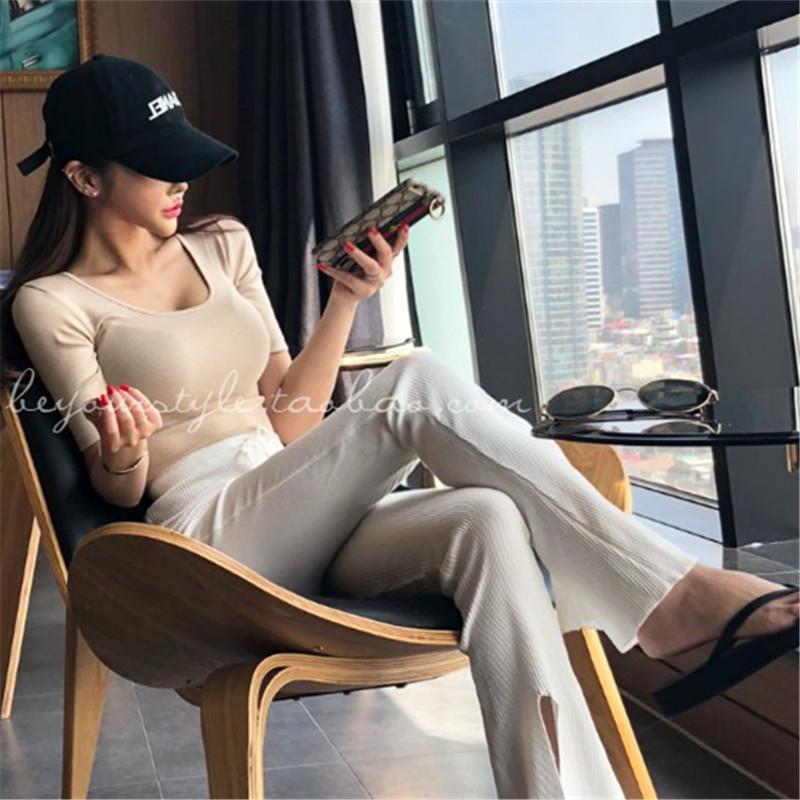 Summer Top Sexy T Shirt Women 2021 Elasticity T-Shirt Korean Style Woman Clothes Slim Blouse Female Casual Short Sleeve Tops Women's Blouses