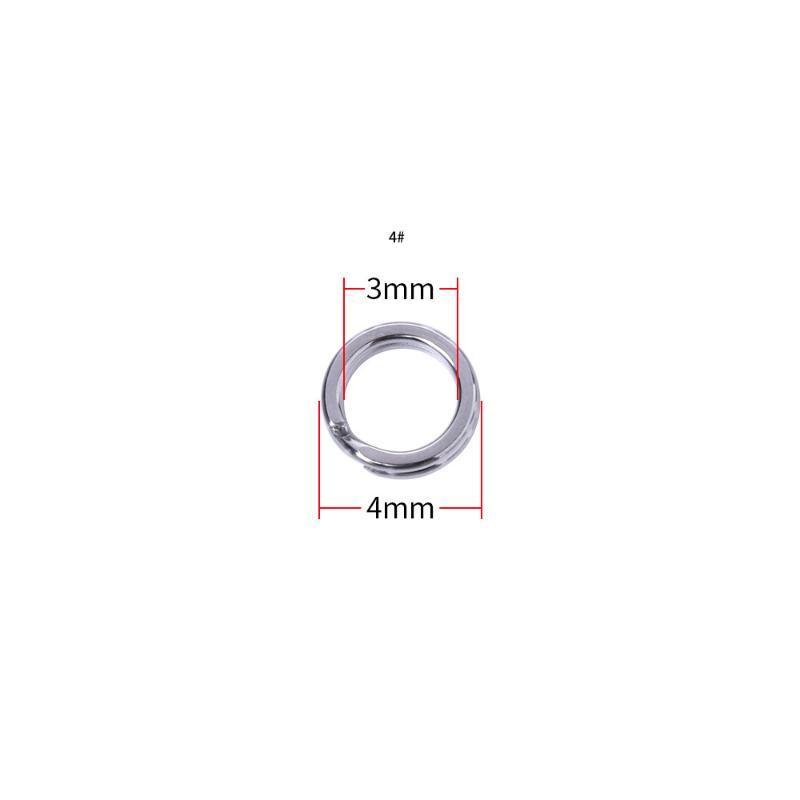 Angelzubehör Vissen 100 stücke Split Ringe für leere Köder Kurbelköder Doppelschleife 3mm-10mm Karpfenwerkzeug