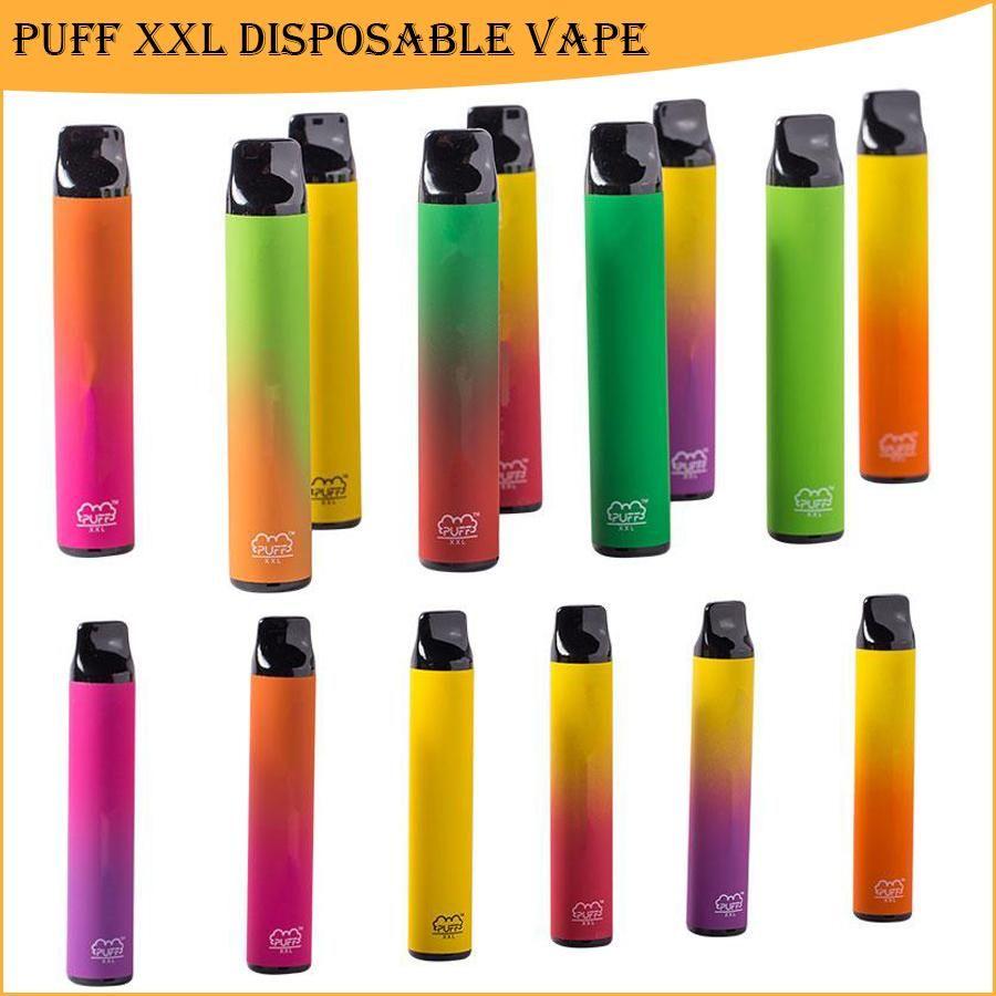 퍼프 바 XXL 일회용 전자 담배 1600 퍼프 vape 펜 사전 채워진 4ml 포드 850mAh 배터리 바 퍼프 바 포드 장치 vapes