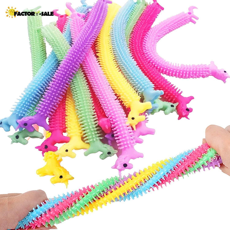 DHL Unicorn Stretchy String Zappeln Spielzeug, Therapie Sensory Spielwaren Angst Squeeze Monkey-Nudeln für Kinder und Erwachsene mit Addhd hinzufügen