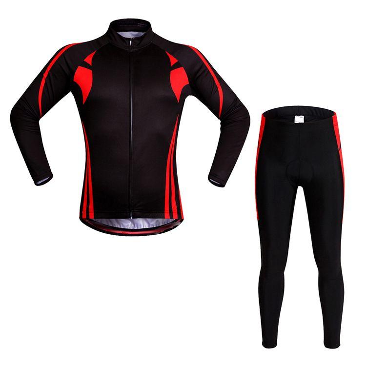 Осенние зимние велосипедные наборы мужчин женщин велосипед одежда